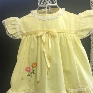 Vintage Nannette Baby Doll Swing Dress w/lace